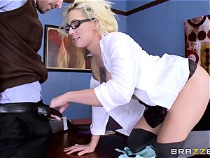 Dean Johnny Sins holds a fuck-a-thon education lesson with a lustful student