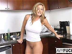 big-chested Avy Scott Gets torn up
