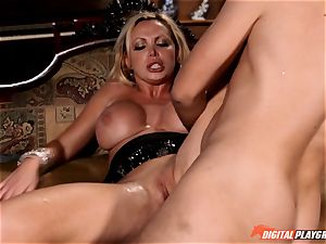 Nikki Benz beaten hard in the chased mansion