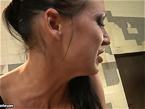 Anna Marie La Sante lick the thumbs of a wild cockslut