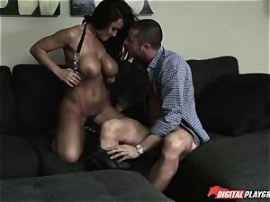 splendid enormous titty milf Lisa Ann gets her unshaved beaver pounded by her daughter's beau
