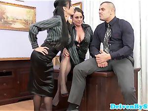european assfucking threesome with Anissa Kate