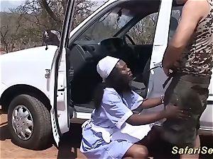 crazy 3some african fuck-a-thon intercourse
