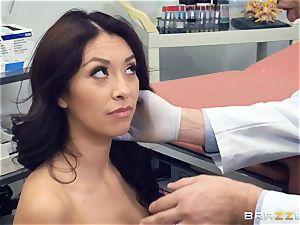 Kara faux medical slit check up