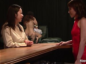 asian mummy at the fucky-fucky club gets finger-tickled