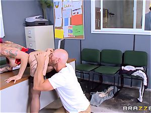 super hot manager Anna Bell Peaks rides her employees lollipop