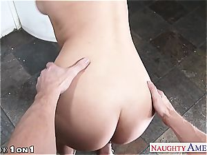 slender huge-titted housewife Natalia Starr take man-meat in point of view