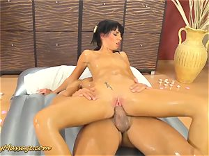 greasy massage hump with Gina Devine