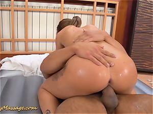 nubile gives slimy nuru massage