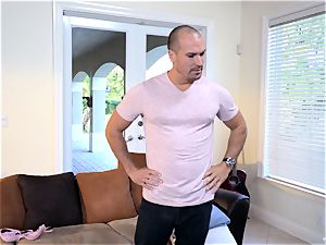 Raylin Ann and Layla London manage to seduce Sean Lawless in for some joy